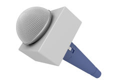 Microfone do repórter Imagem de Stock Royalty Free