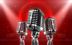 Microfone do vintage ilustração stock