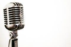Microfone do vintage Imagens de Stock