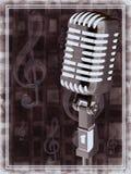 Microfone do vintage do ouro Fotografia de Stock Royalty Free