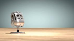 Microfone do vintage que inclina-se para dizer SIM rendição 3d ilustração stock