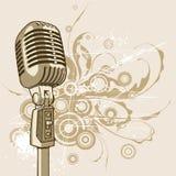 Microfone do vintage - vetor Imagem de Stock Royalty Free