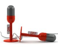 Microfone dois retro Fotografia de Stock