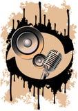 Microfone e altofalante Imagens de Stock