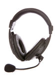 Microfone e auriculares Foto de Stock