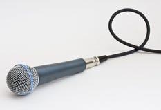 Microfone e cabo Fotos de Stock Royalty Free