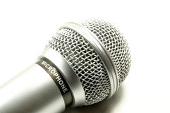 Microfone em um fundo branco Imagem de Stock Royalty Free