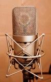 Microfone em uma cabine sadia do cerco Foto de Stock
