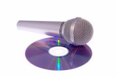 Microfone en CD Stock Foto