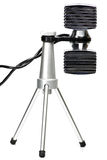 Microfone estereofônico imagem de stock