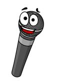 Microfone handheld dos desenhos animados ilustração stock