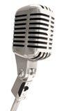 Microfone isolado Foto de Stock