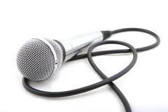 Microfone moderno fotografia de stock royalty free