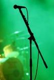 Microfone na fase fotografia de stock royalty free