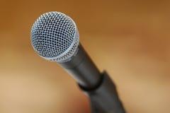 Microfone no carrinho Fotografia de Stock