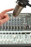 Microfone no estúdio sadio Fotos de Stock Royalty Free