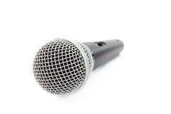 Microfone no fundo branco Imagem de Stock
