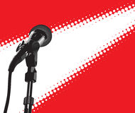 Microfone no projector Fotografia de Stock Royalty Free