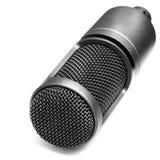 Microfone para a música e as canções da gravação fotografia de stock