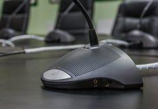 Microfone para a sala de reunião Imagem de Stock Royalty Free