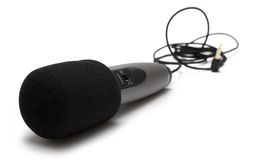 Microfone pequeno com cabo Foto de Stock