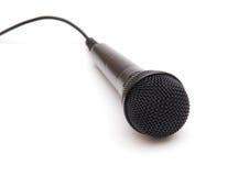 Microfone preto Imagem de Stock Royalty Free