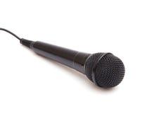 Microfone preto Fotos de Stock Royalty Free