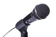 Microfone preto Fotografia de Stock