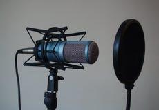 Microfone profissional do estúdio do tubo de vácuo foto de stock