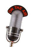 Microfone retro Imagem de Stock Royalty Free
