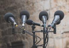 microfones imagem de stock