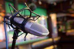 Microfones do estúdio para o artista Fotos de Stock