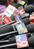 Microfones dos canais diferentes dos meios, Índia Imagem de Stock