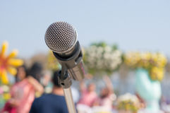Microfones, eventos exteriores Foto de Stock