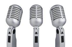 Microfoni d'annata Fotografie Stock