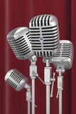 Microfoni dell'annata Fotografia Stock