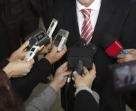 microfoni di congresso Fotografie Stock Libere da Diritti