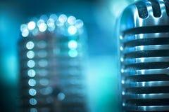 Microfoni professionali di concerto di registrazione dello studio Fotografie Stock