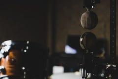 Microfoni sottosopra fotografia stock libera da diritti