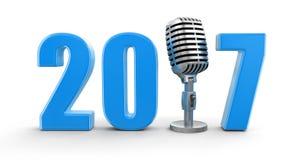 Microfono con 2017 Fotografia Stock