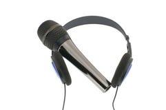 Microfono con le cuffie Immagine Stock Libera da Diritti