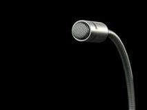 Microfono contro priorità bassa nera Immagini Stock Libere da Diritti