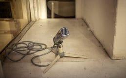 Microfono d'annata fotografia stock