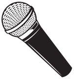 Microfono del classico di vettore Fotografie Stock Libere da Diritti