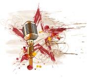 Microfono del rock star illustrazione vettoriale