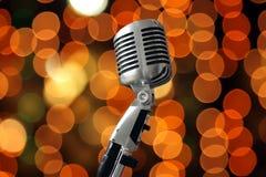 Microfono dell'annata Fotografie Stock Libere da Diritti