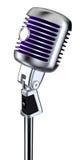 Microfono dell'annata illustrazione vettoriale