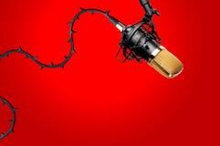 Microfono dello studio di registrazione Fotografie Stock Libere da Diritti
