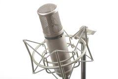 Microfono dello studio sul basamento Fotografie Stock