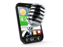 Microfono dentro lo Smart Phone illustrazione vettoriale